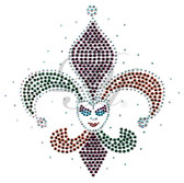 Ovrs5901 - Mardi Gras Fleur de Lis Jester