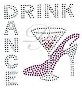 Ovrs4941 - Drink & Dance Martini Glass with Heel