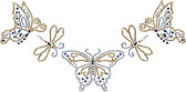 Ovrs456- Butterfly and Dragonfly Neckline - ON SALE!