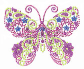 Ovrs5148s - Butterfly Neon Multi Color small