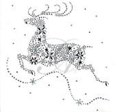 Ovrs5289 - Reindeer with Snowflakes
