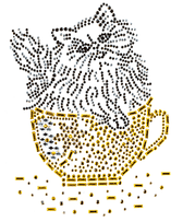 Ovrs1223 - Cat in Teacup