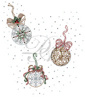 Ovrs5358 - Vintage Christmas Ornament Full Frontal Design