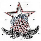 Ovrs1688 -  Large Western Boot with Star