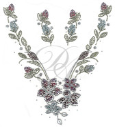 Ovrs6117 - Spring Flower V Neckline with Matching Accent Pieces