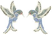 Ovrs1629 - Pair of Blue Hummingbirds