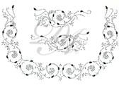 Ovrs4932 - Square Neckline Swirls