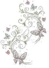 Ovrs6137 - Butterflies and Swirls Jacket Decor