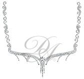 Ovrs5150 - Swirly Diamond Square Neckline