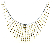Ovrh2109 - Scoop Gold & Clear Spray Neckline - ON SALE!