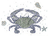 Ovrs9802 - Green Crab with Starfish and Seashells