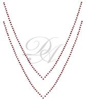 Ovr513 - Red Double Row V Neckline