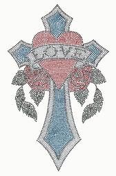 Ovrs2860 - Love in a Heart on a Cross - ON SALE!