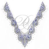 Ovrs2089 -  Blue Swirls V Neckline
