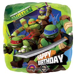 "Ninja Turtles 17"" Happy Birthday Balloon"