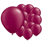 Burgundy Latex Balloons 8 Pack