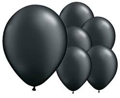 Black Latex Balloons 8 Pack