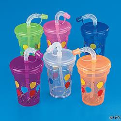 Birthday Sipper Cup with lid and Straw