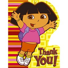 Dora the Explorer Diecut Thank You Notes 8 ct.