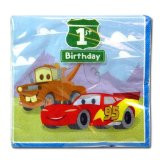 Cars 1st Birthday Lunch Napkins 16ct