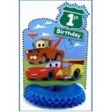 Cars 1st Birthday HoneyComb CenterPiece