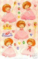 StrawBerry Princess Party Stickers  2 Pack