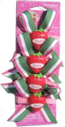 StrawBerry Shortcake PonyTAIL HOLDERS 4 Count