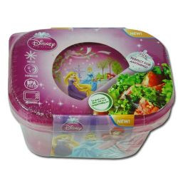 Princess Storage Containers with Lid 2 Pack