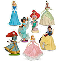 Princess 7 Piece Cake Toppers Figurine PlaySet