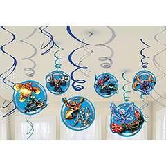 Skylanders Swirl Decorations 12 Count