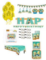 DESPICABLE ME SUPER PACK FOR 16 GUEST *** Bonus Candle Set