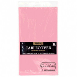 Pale Pink (Baby Pink) Plastic Rectangular Tablecover