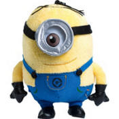 """Despicable Me Stuart Minion Plush 6 3/4 """" with Clip-On  and Zippered Compartment"""