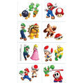 Super Mario Tattoos 16 pack