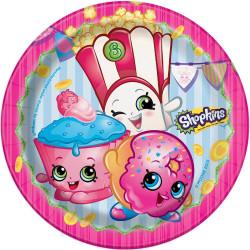 """ShopKins 7"""" Dessert Plates 8 Count"""