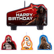 Star Wars Episode VII The Force Awakens Birthday Candles 4ct