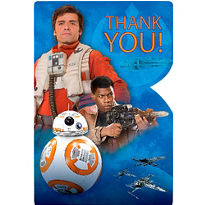 Star Wars Episode VII The Force Awakens Thank You Notes 8ct