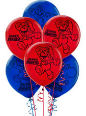 Super Mario Balloon Latex Balloons 6 pack