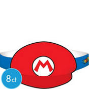 Mario & Luigi Party Hats 8ct - Super Mario