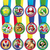 Super Mario Award Medals 12ct