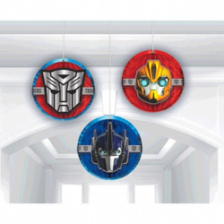 Transformers Core Honeycomb Decorations 3 count