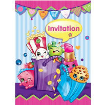 Shopkins Invitations 8 count
