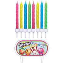 Shopkins Candles & Sign 8 count