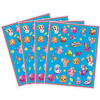 Shopkins Stickers 4 Sheets