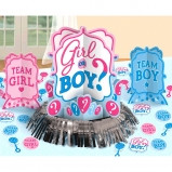 Girl or Boy Gender Reveal Baby Shower Table Decorating Kit 23 piece