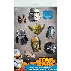 Classic Star Wars Photo Booth Props, 8 pieces