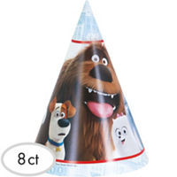 The Secret Life of Pets Party Hats 8 count