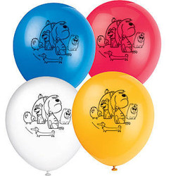 The Secret Life Of Pets Latex Balloons 8 count