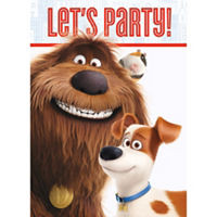 The Secret Life Of Pets Invitations pack of 8