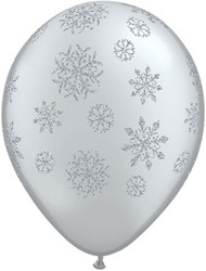 11C SNOWFLAKES GLITTER ARD SILVER